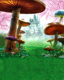 Fairy Tale Alice Wonderland Castle Mushroom Backdrop Photography Studio Background
