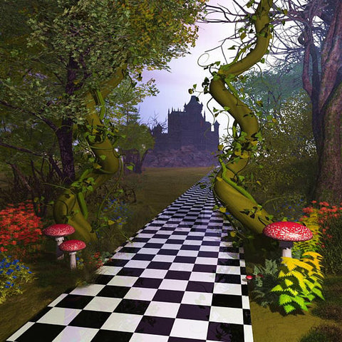 Fairy Tale Alice Wonderland Forest Road Backdrop Photography Studio Background