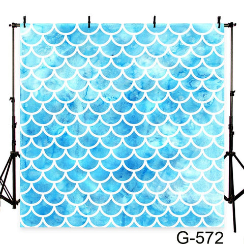 Blue Mermaid Scales Photography Studio Backdrop Background
