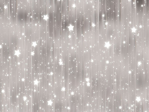 Silver Curtain White Glitter Stars Backdrop For Newborn