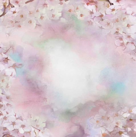 Painting White Floral Flowers Newborns Backdrop Wedding Backdrop Photo Studio Background