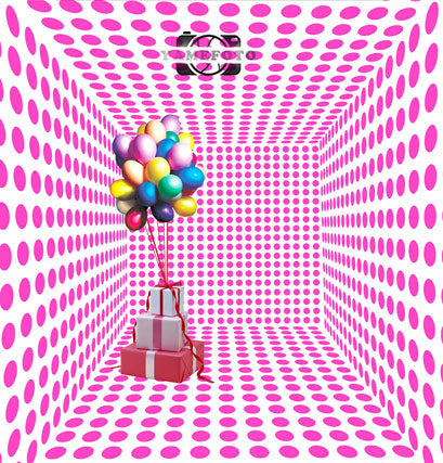 3D Pink Dots Wall Balloon Kids Backdrop Photography Studio Background