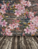 Textured Painting Pink Flower Wall Backdrop For Kids Children Photo Props Studio Background