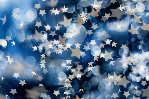 Blue Blur Bokeh Spots Dots Stars Kids Children Backdrop Photography Studio Background