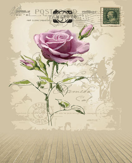 Pink Rose Flower Vintage Wall Wood Floor Fotografia Backdrop Photography Studio Background