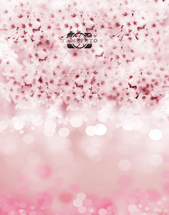 Vinyl Dreamlike Pink Flower Bokeh Dots Newborn Fotografia Backdrop Props Photo Studio Background