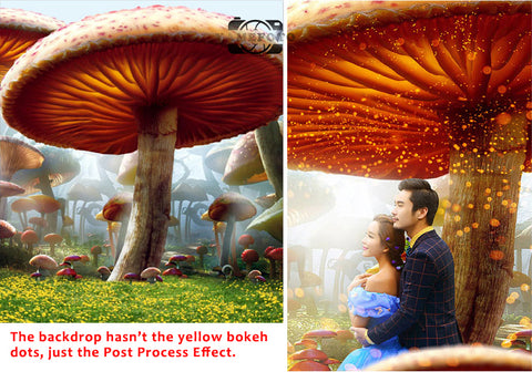 Fairy Tale Wonderland Forest Mushroom Children Wedding Backdrop Photography Studio Background
