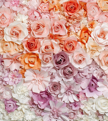 Pink Purple White Rose Flowers Valentines Wedding Backdrop Photography Studio Background