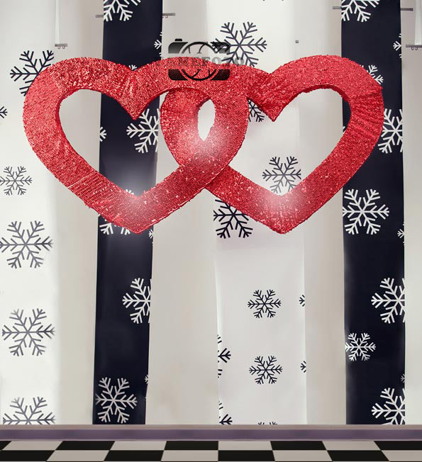 Red hearts Valentine's Day Backdrop Photography Studio Background