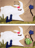 Cartoon White Rabbit Baby Backdrop Photography Studio Background