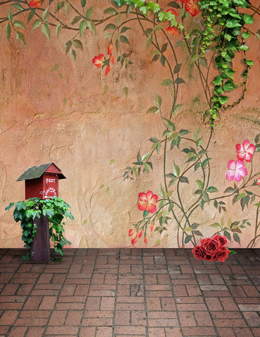 Outdoor Painting Flower Wall Backdrop For Kids Children Photo Studio Background
