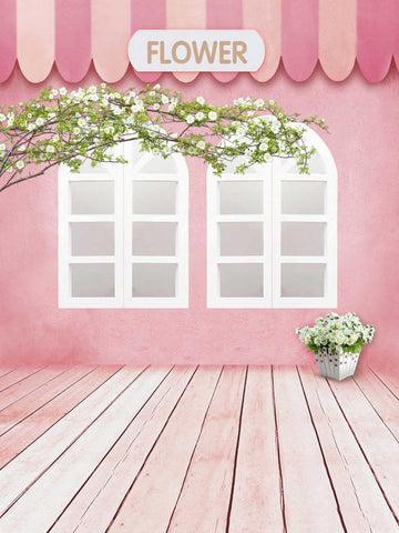 Vinyl Pink Wall Wooden Floor Window Baby Kids Fotografia Backdrop Photography Studio Background