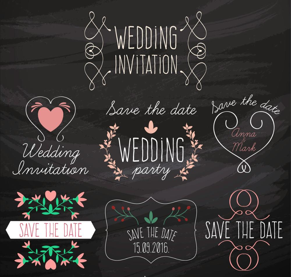 black background simple decorations wedding invitation backdrop