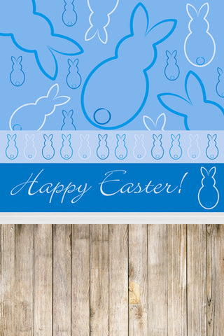 Blue Background Easter Rabbits Happy Easter Backdrop Photography Props Studio Background