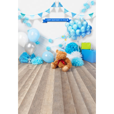 Blue Balloons Gifts Newborn Baby Birthday Backdrop Photography Studio Background