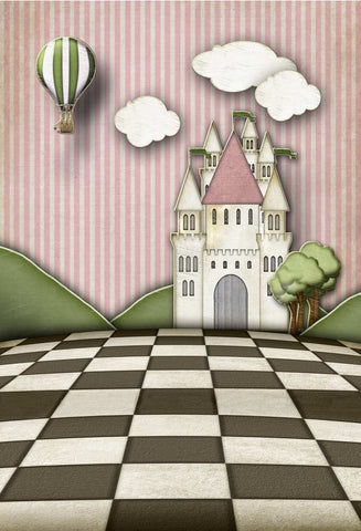 Cartoon Castle Backdrop For Children Photography Studio Background