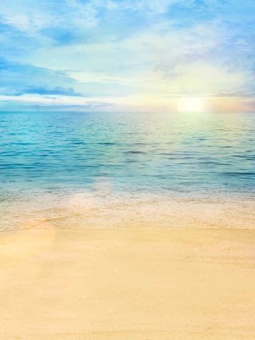 Seaside Sunrise Beach Backdrop Photography Studio Background