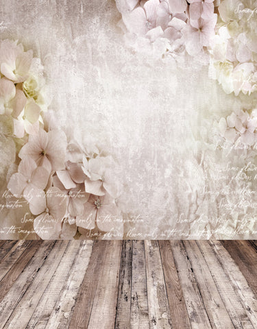 Textured White Flower Wall Backdrop For Kids Children Photo Props Studio Background