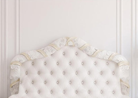 Pure White Headboard Bed Backdrop Photography Props Studio Background