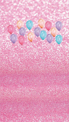 Pink Bokeh Spots Dots Balloons Kids Children Birthday Backdrop Photography Studio Background