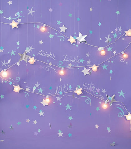 Purple Background Shiny Stars For Kids Children Room Backdrop Photography Studio Background