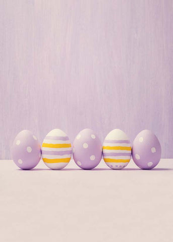Pure Purple Wall Easter Eggs Backdrop Photography Props Studio Background
