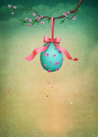 Cartoon Blue Easter Egg Newborn Kids Easter Backdrop Photography Props Studio Background
