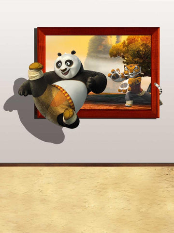 3D Cartoon Kungfu Panda Backdrop For Children Photography Studio Background