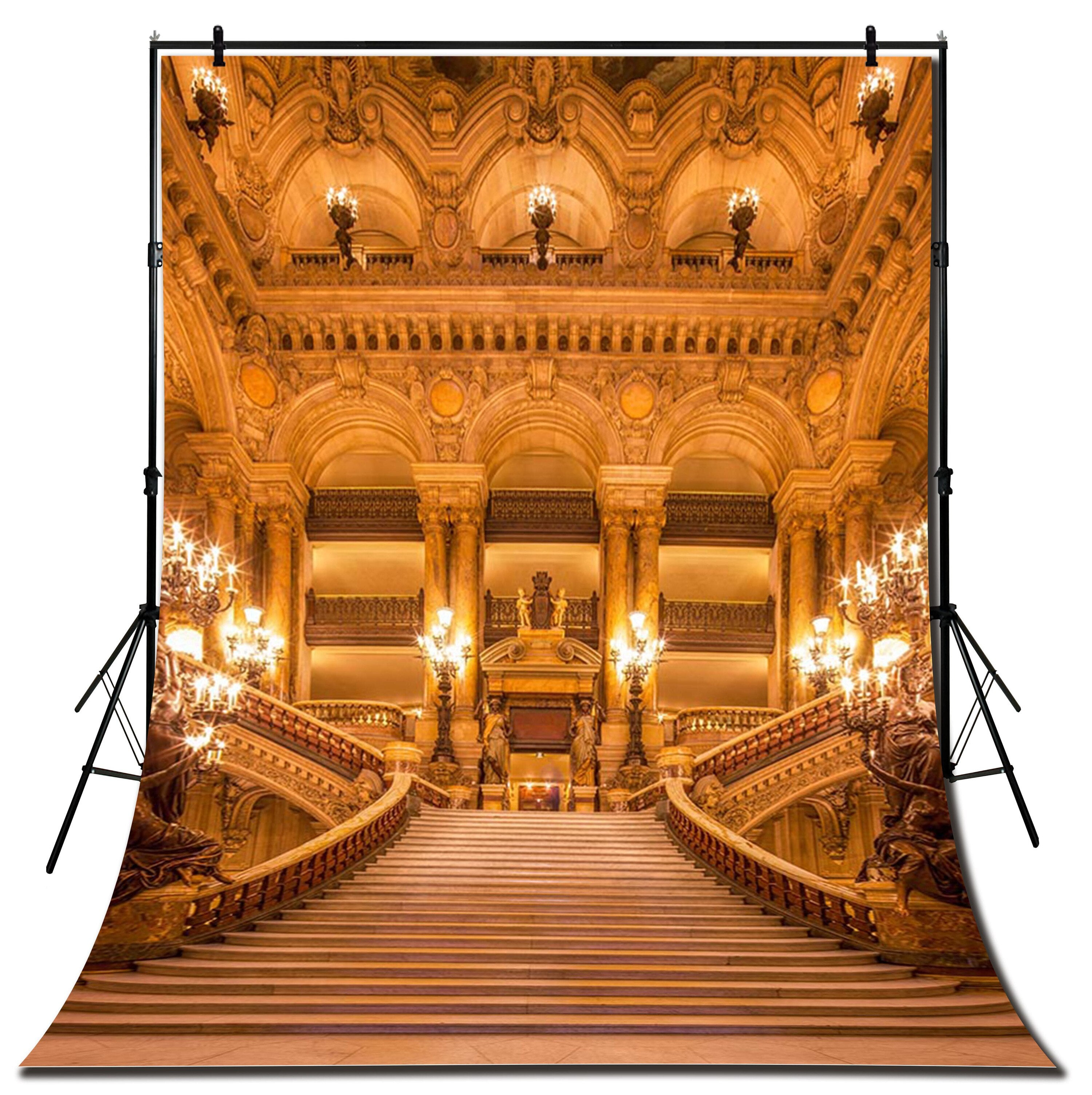 Yame Luxury Gold Palace Steps Stairways Photography Studio Backdrop Background