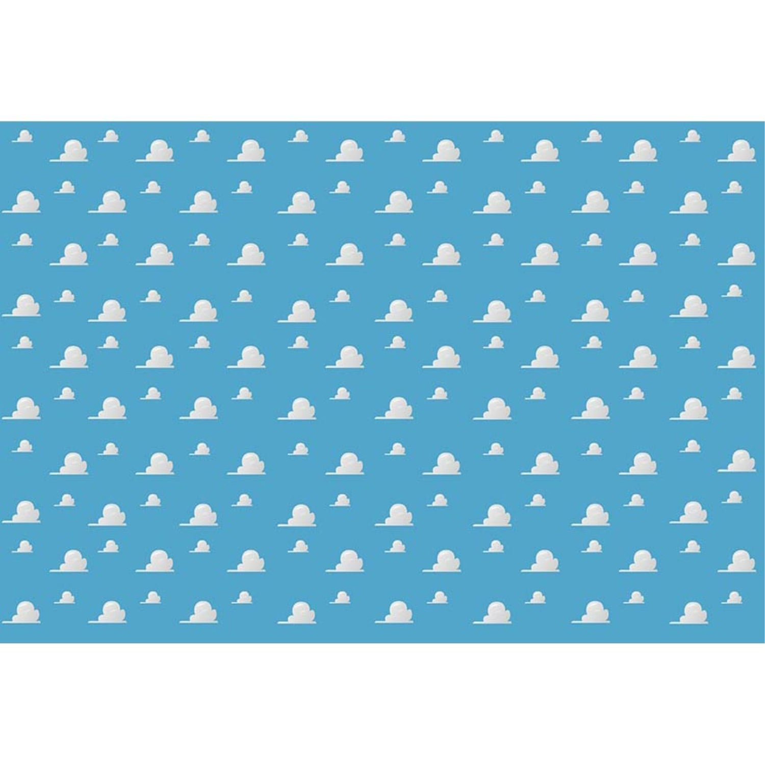 Cartoon Blue Cloud Birthday Party Photography Studio Backdrop Background Banner