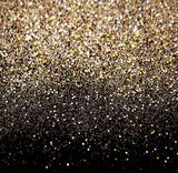 Glitter Black Gold Dots Photography Studio Backdrop Background