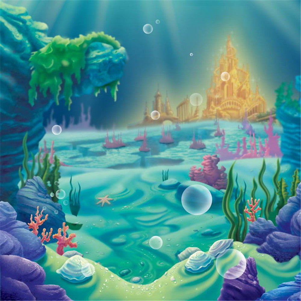 Fairy Tale Underwater Undersea Mermaid Photography Studio Backdrop Background