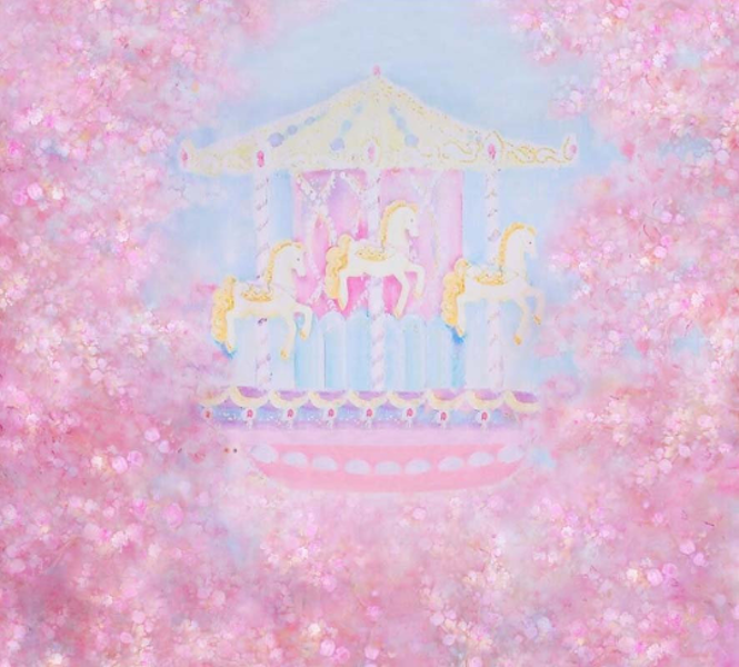 Fairy Tale Paint Dream Carousel Photography Studio Backdrop Background