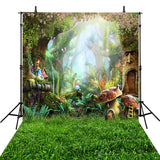Fairy Tale Alice Wonderland Forest Lawn Backdrop Photography Studio Background