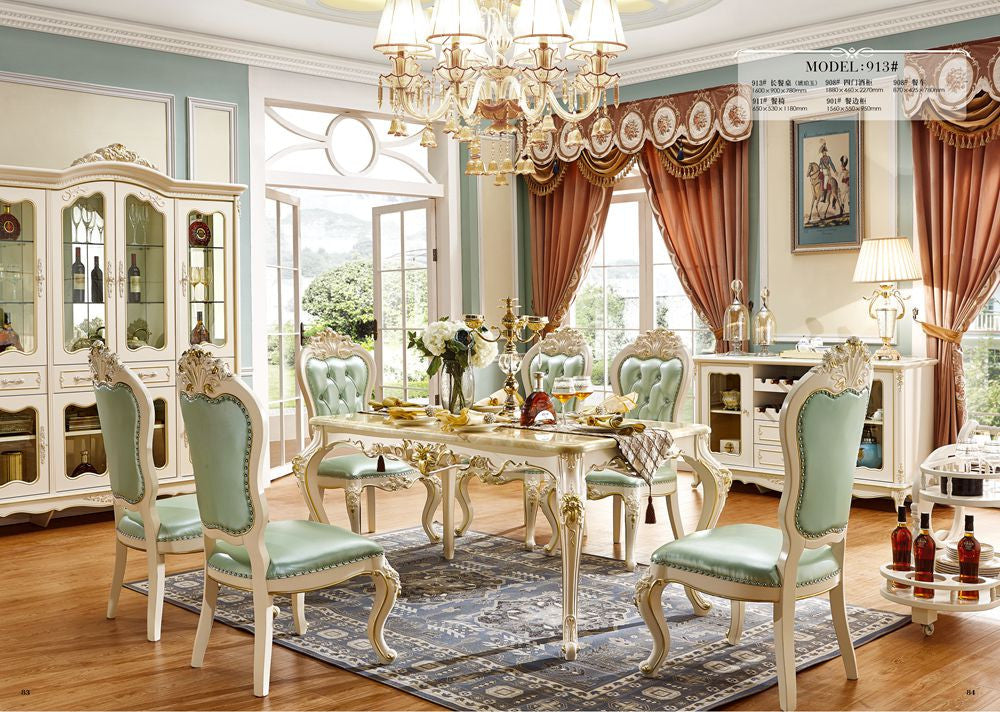 European style solid wood dining room set/ home furniture Sets with ...