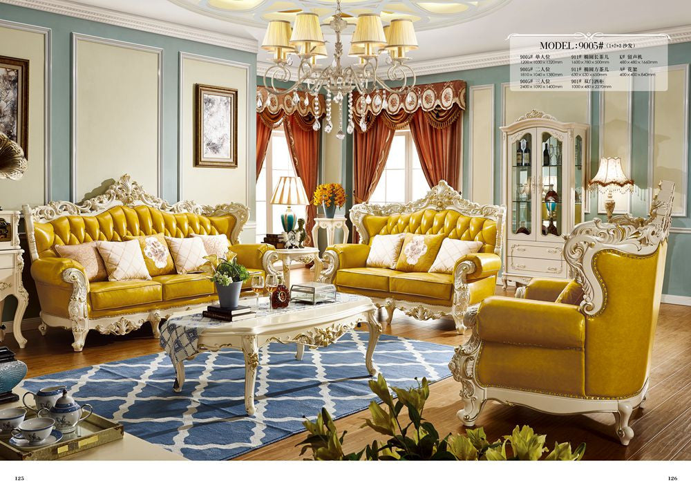 Leather sofa product in China of furniture factory Oppein Italy classic  sofa Living room sofa