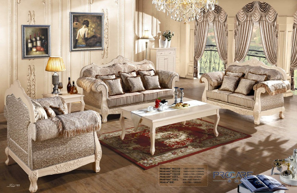 European royal style brown sofa set living room furniture,modern fabric  sofa set furniture prices china