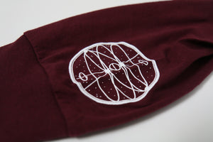 Eclipse Long Sleeve Tee (Burgundy)