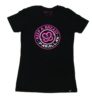 Keep A Breast Collab Ladies Boyfriend Tee (Black)