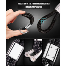 Load image into Gallery viewer, Black Calf Leather Alloy For Audi Keychain Gift Decoration Gift Accessories - US85.COM