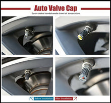 Load image into Gallery viewer, Universal Carbon Fiber Car Wheels Tire Air Valve Caps Stem Cover With Emblem F1 - US85.COM