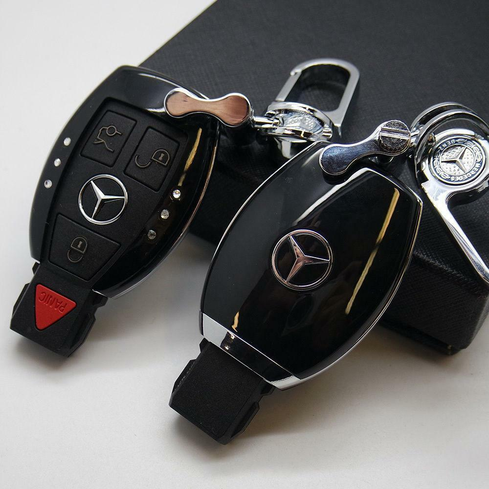 Black Car Remote Key Case Holder Shell Protect Housing Cover Decoration Gift B - US85.COM