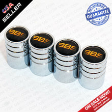 Load image into Gallery viewer, Silver Chrome Wheel Tire Air Valve Caps Stem Valve Cover With BBS Logo Emblem - US85.COM