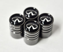 Load image into Gallery viewer, Black Chrome Auto Car Wheel Tire Air Valve Caps Stem Cover With Infiniti Emblem - US85.COM