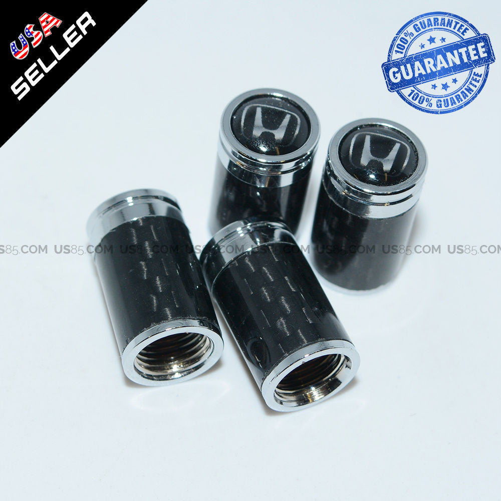 Carbon Fiber CAR Wheel Tyre Tire Air Valve Caps Stem Cover With Honda Emblem - US85.COM