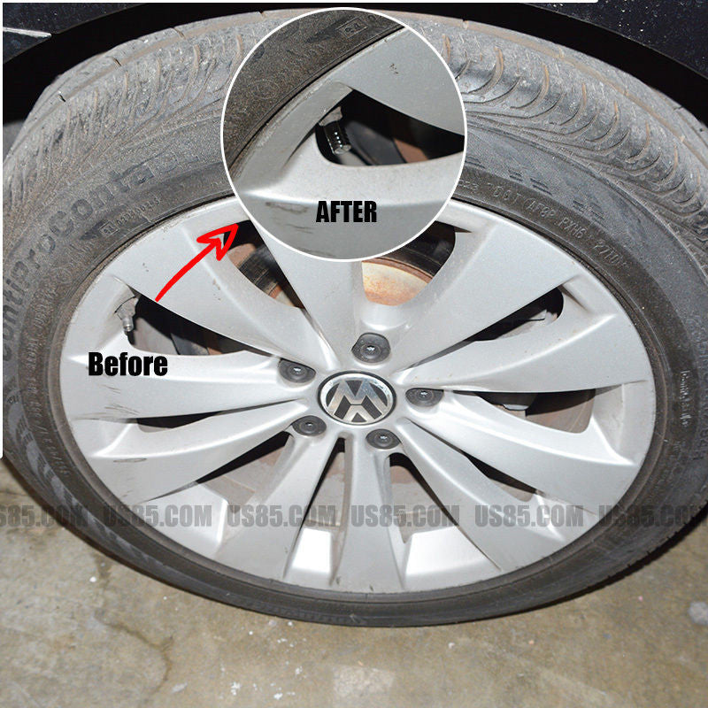 Silver Chrome Auto Car Wheel Tire Air Valve Caps Stem Cover With Audi Emblem - US85.COM