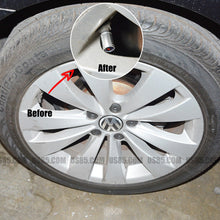 Load image into Gallery viewer, Silver Auto Chrome Car Emblem Wheel Tire Air Valve Caps Stem Cover KIA Decoration - US85.COM