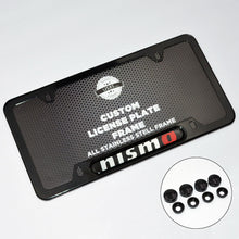 Load image into Gallery viewer, Black Stainless Steel Front Rear Nismo License Plate Frame Cover Gift Holder - US85.COM