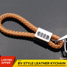 Load image into Gallery viewer, Brown Calf Leather Alloy For Audi Keychain Gift Decoration Gift Accessories - US85.COM