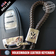 Load image into Gallery viewer, Volkswagen Car Logo Emblem Key Chain Metal Coffee Leather Gift Decoration Accessories - US85.COM